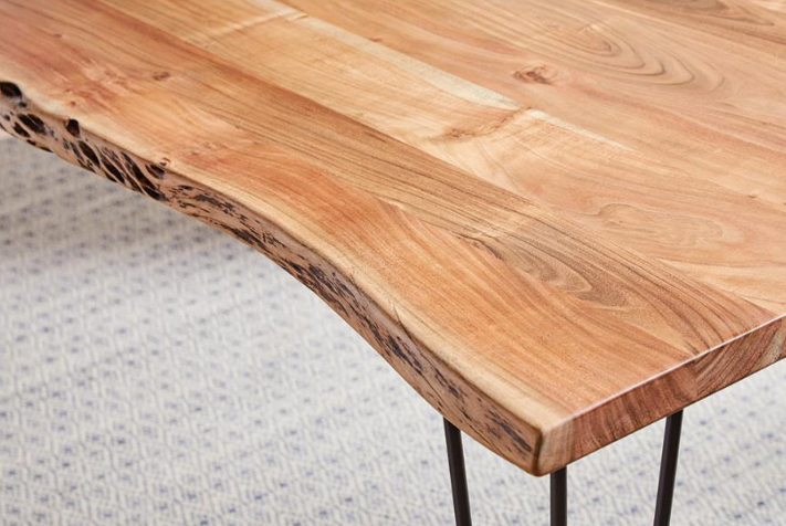 Sherman Collection Solid Live Edge Dining Table
