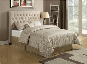 Chloe Collection Upholstered Headboard - Oatmeal