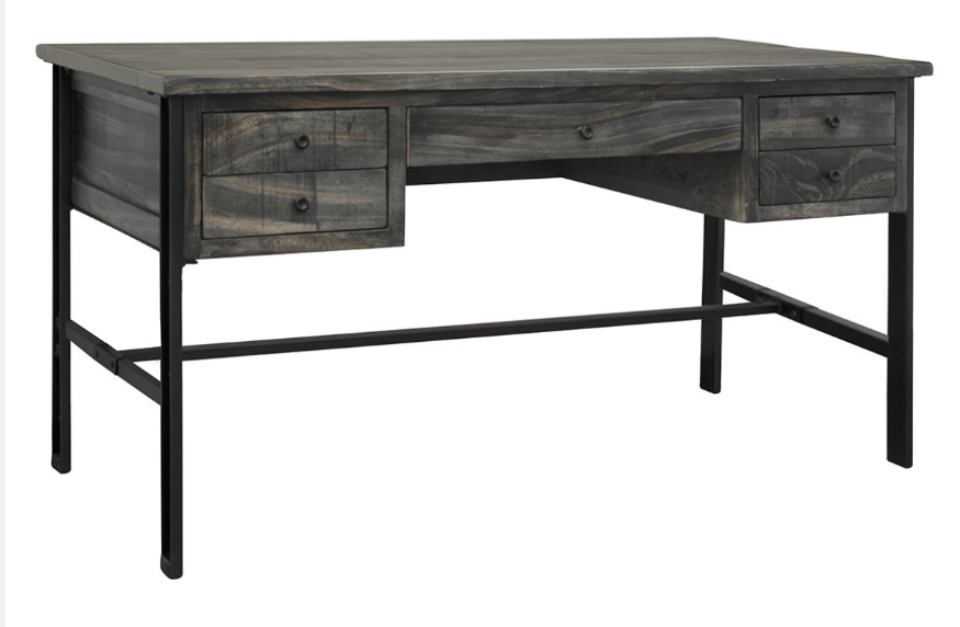 Moro Collection Solid Wood Industrial Desk