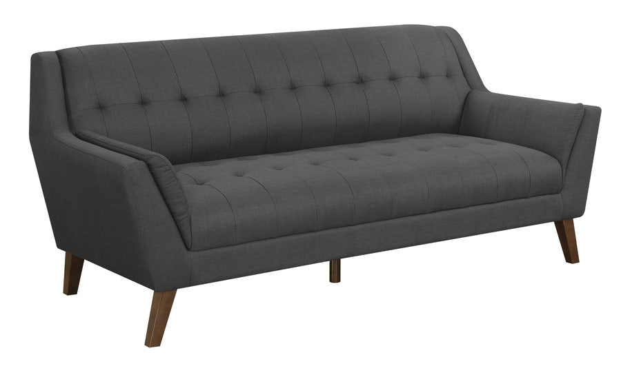 Binetti Collection Mid Century Modern Sofa - Charcoal