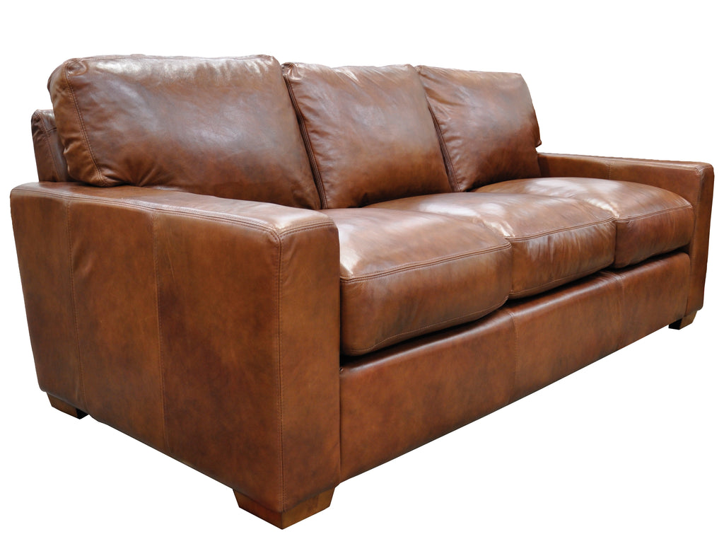 City Craft Collection Top Grain Leather Sofa