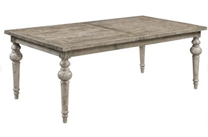 Interlude Collection Rustic Farmhouse Extension Dining Table