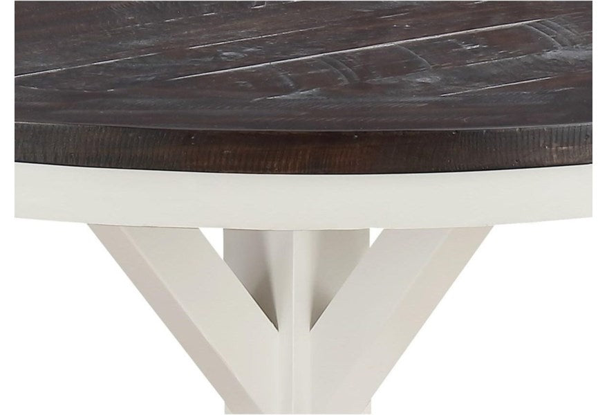 "Mountain Retreat Collection 54"" Round Dining Table"