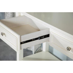 Sandy Beach Collection One Drawer End Table - White