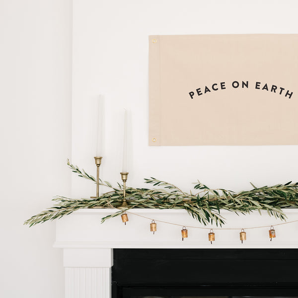 Amanda Jane Jones-- Peace on Earth Christmas Flag