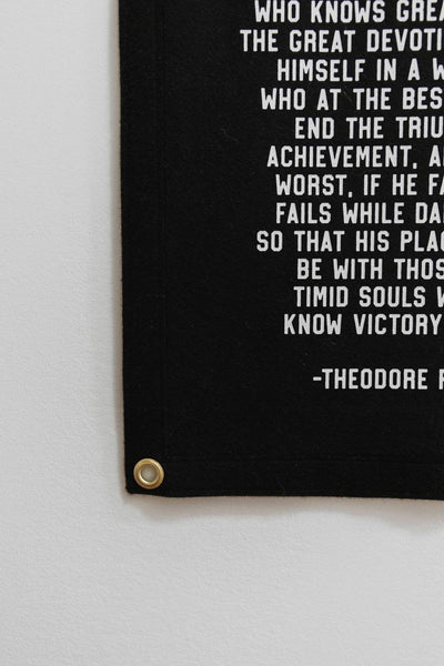 Man in the Arena, Daring Greatly Flag (Theodore Roosevelt)