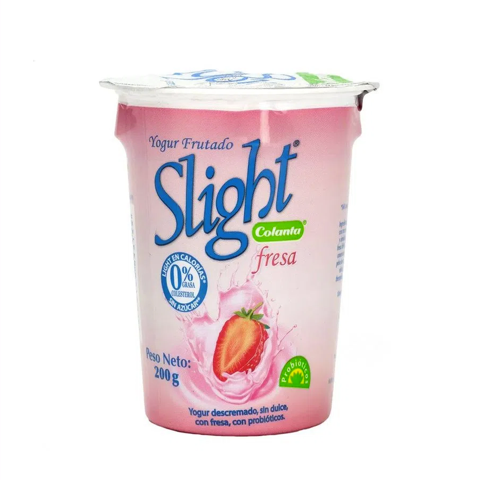 Vaso yogur slight fresa Colanta - 200 gr