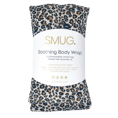 Soothing Body Wrap Wheat Bag Infused with Lavender Oil - Animal Print