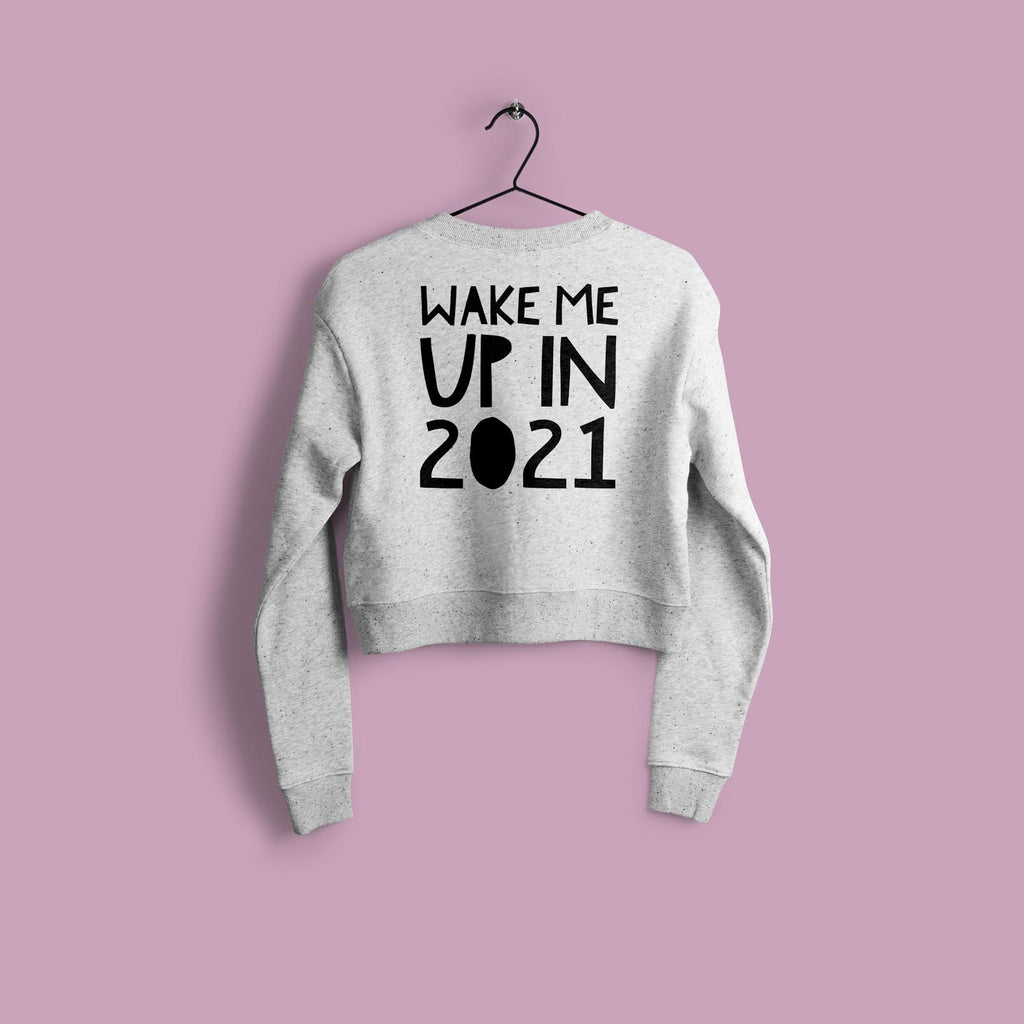 2021 CROP TOP SWEATER - GREY