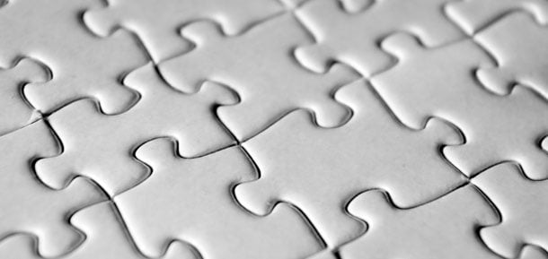 white blank jigsaw pieces