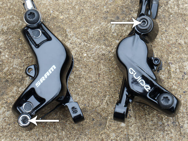 new sram s4 brake caliper vs old style bleed port