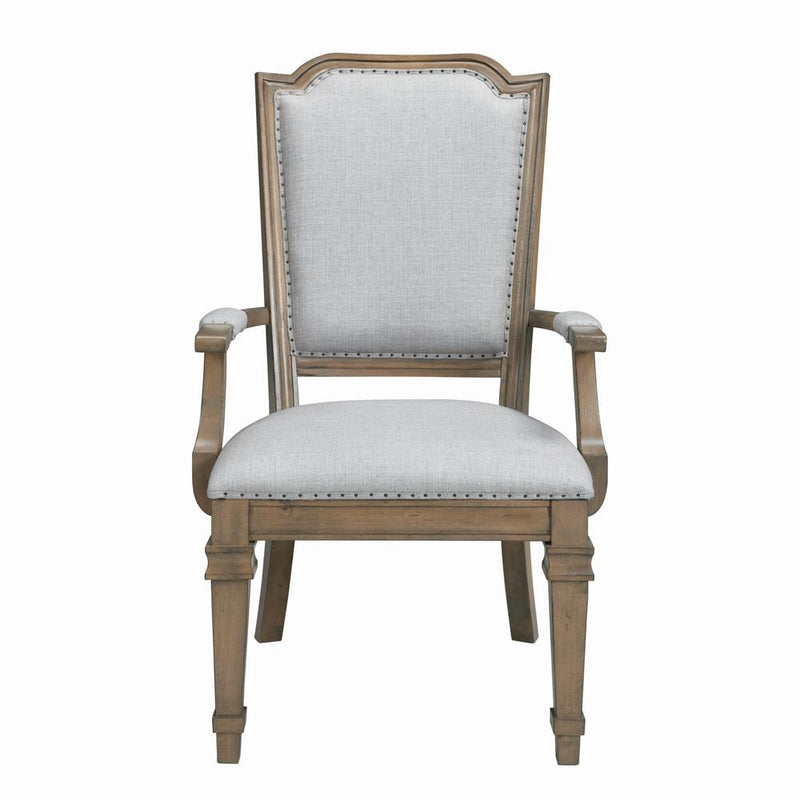 Florence Grey Upholstered Dining Arm Chair