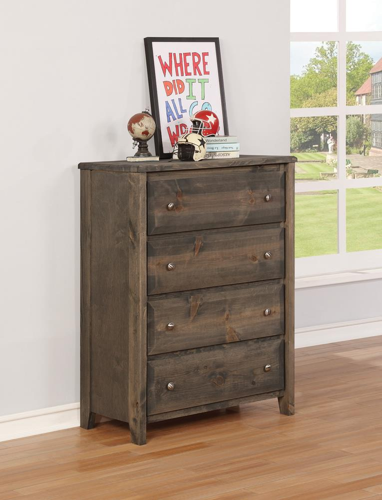 Wrangle Hill Gun Smoke Four-Drawer Chest