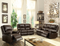Zuriel Brown PU Sofa (Motion) image