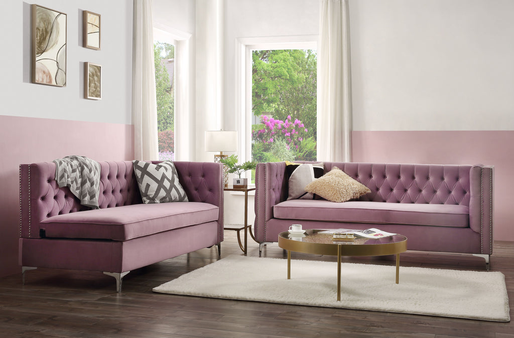 Picture of: Rhett Purple Velvet Sectional Sofa Global Furniture