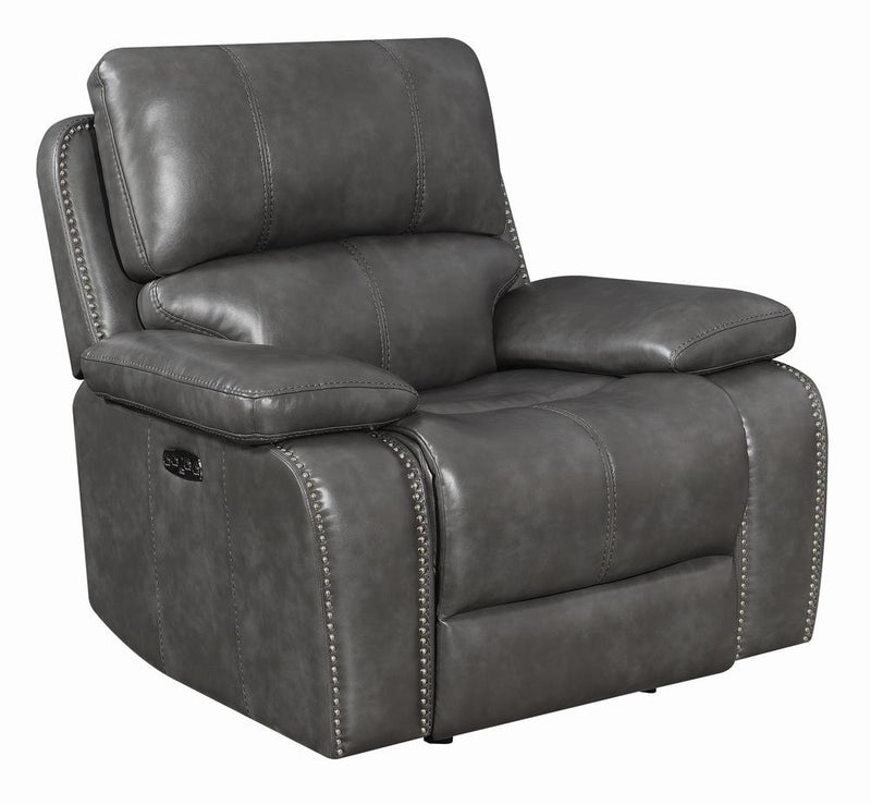 Ravenna Casual Charcoal Power^2 Glider Recliner