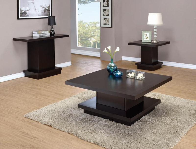 Cappuccino Wood Top Sofa Table