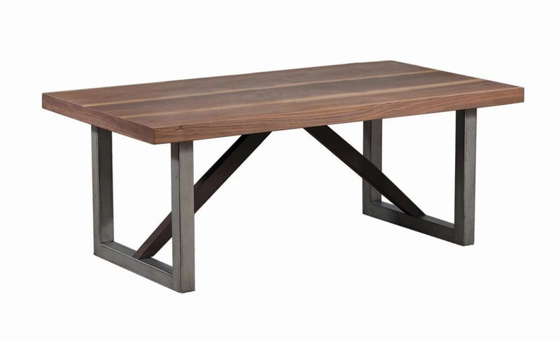 Industrial Walnut Coffee Table