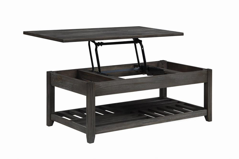 Rustic Grey Lift-Top Coffee Table