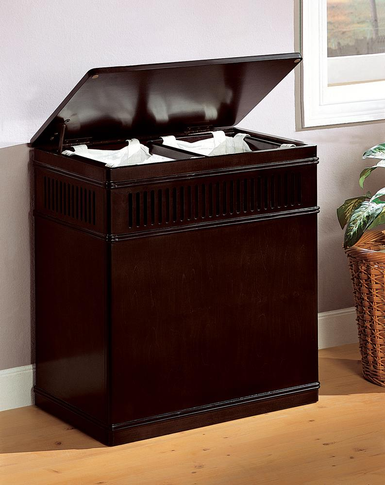 Transitional Cappuccino Laundry Hamper