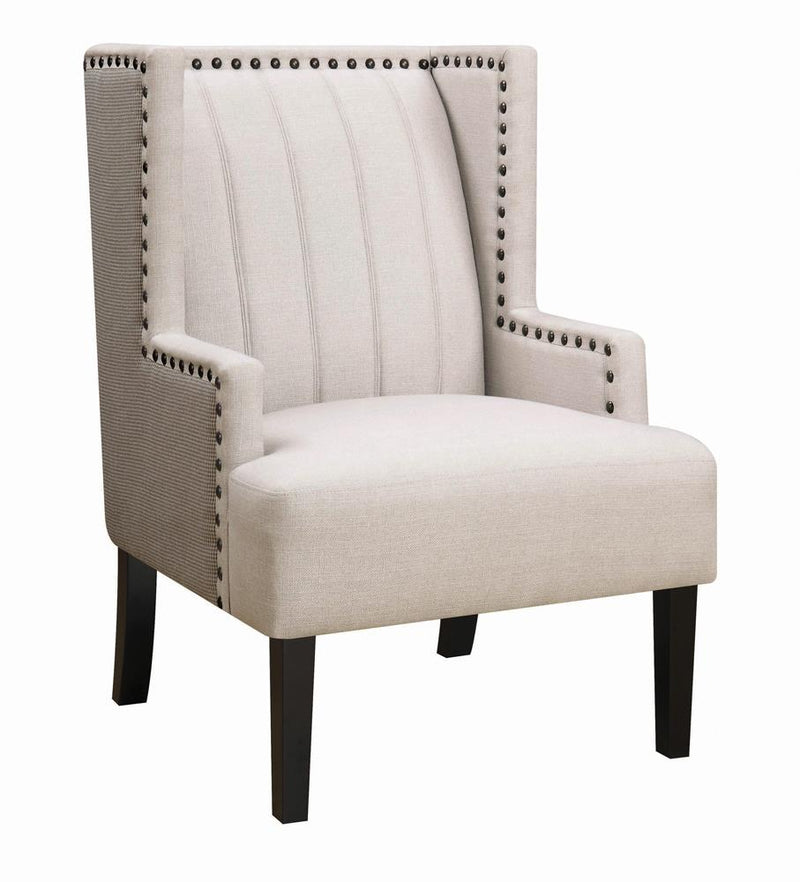 Traditional Light Beige Accent Chair