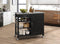 Ottawa Stainless Steel & Black Kitchen Cart