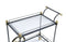 Cyrus Black/Gold & Clear Glass Serving Cart