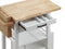 Zillah Natural & White Kitchen Cart