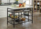 Lanzo Marble & Gunmetal Kitchen Island (Counter)