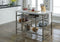 Lanzo Marble & Antique Pewter Kitchen Island (Counter)