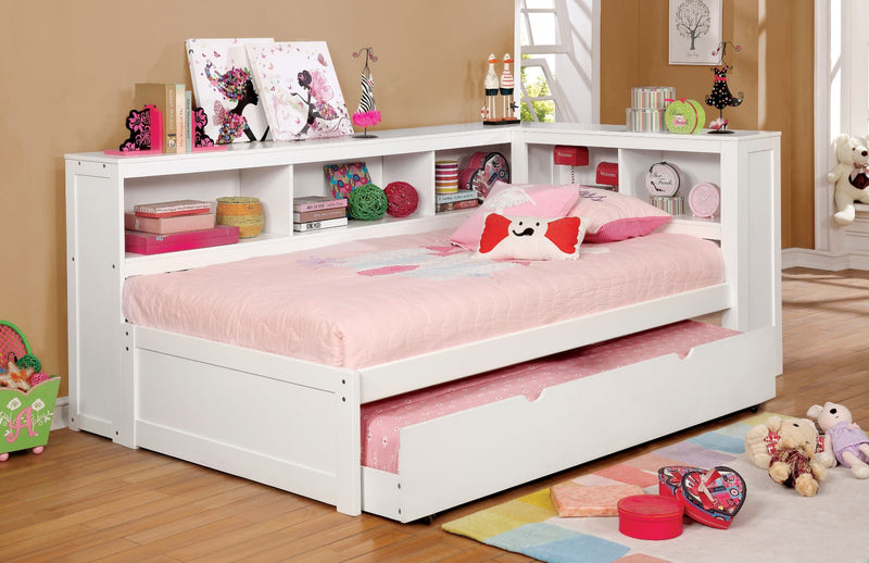 Frankie White Full Daybed w/ Trundle