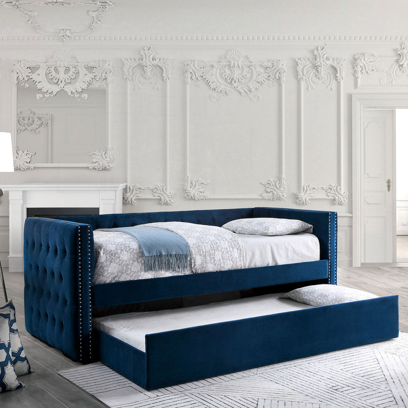 Susanna Navy Daybed w/ Trundle, Navy