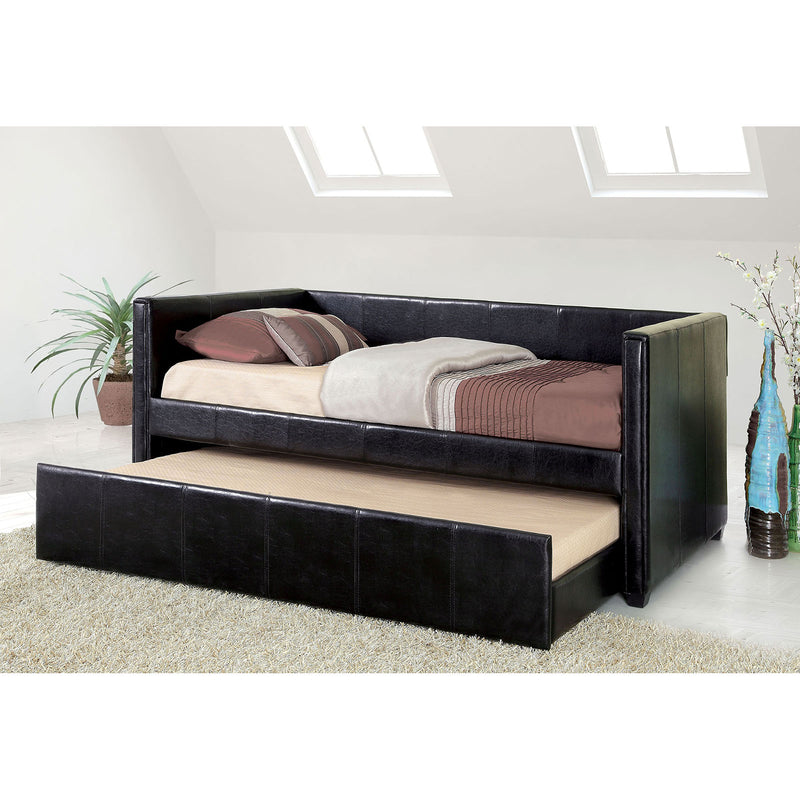 Cadiz Black Daybed w/ Trundle, Black