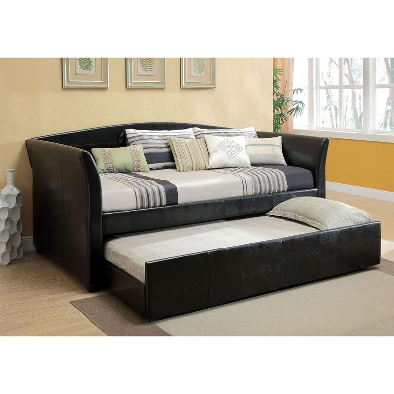 Delmar Black Daybed w/ Trundle, Black