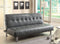 Bulle Gray Leatherette Futon Sofa, Gray