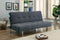 DEWEY Gray/Chrome Futon Sofa, Gray