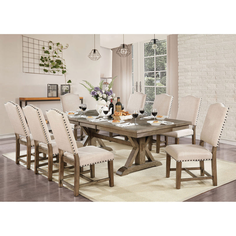 Julia Light Oak 9 Pc. Dining Table Set