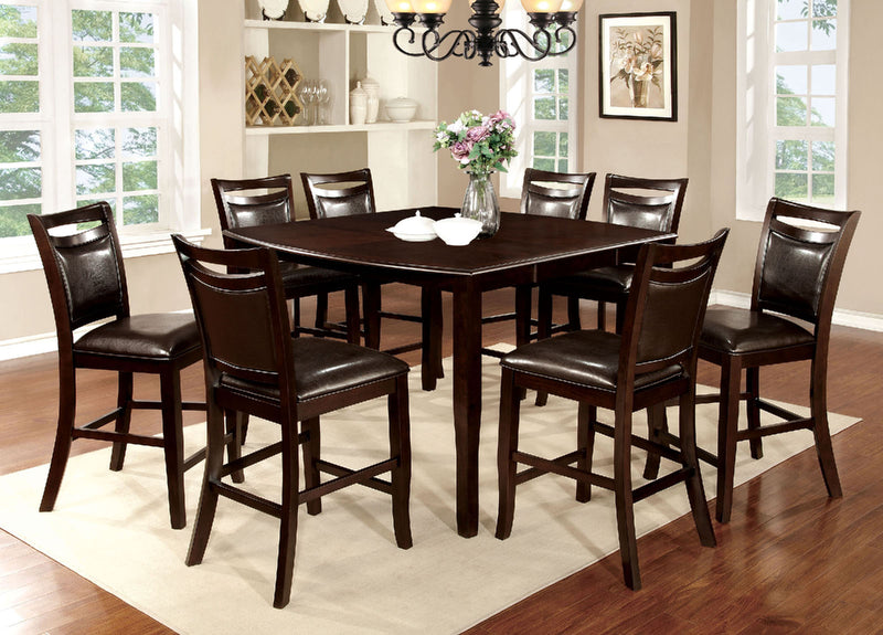 WOODSIDE II Dark Cherry 9 Pc. Counter Ht. Table Set