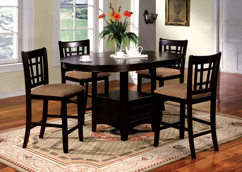 Metropolis Espresso 7 Pc. Counter Ht. Table Set
