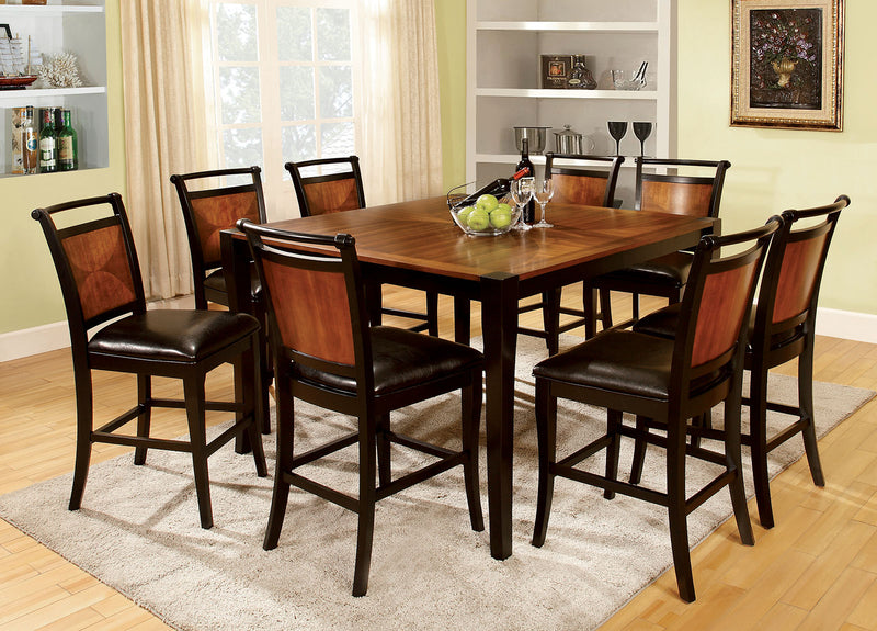 Salida II Acacia/Black 9 Pc. Counter Ht. Table Set