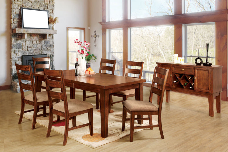Priscilla I Antique Oak 7 Pc. Dining Table Set