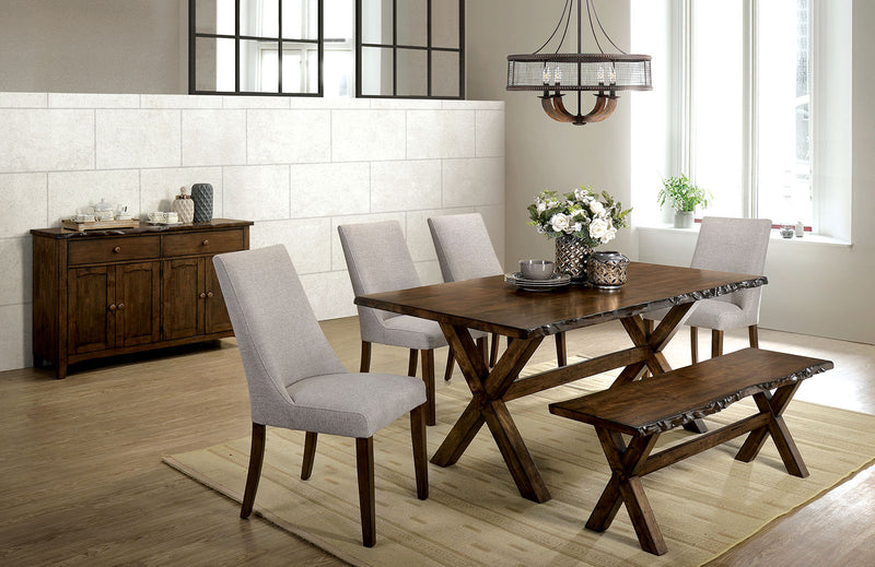 Woodworth Walnut 6 Pc. Dining Table Set w/ Bench