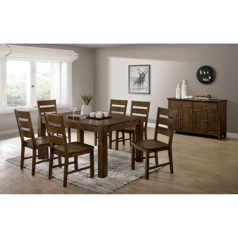 Mccall Walnut 6 Pc. Dining Table Set w/ Bench