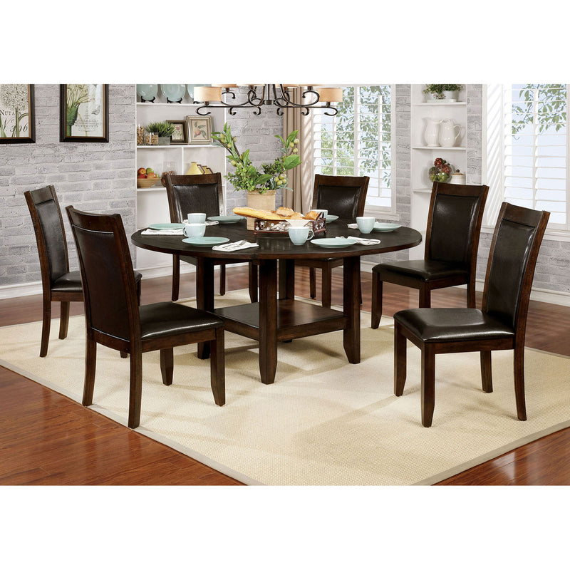 Mae Brown Cherry, Espresso 7 Pc. Dining Table Set