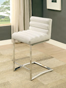 LIVADA II Chrome/White Counter Ht. Chair, White (2/CTN)