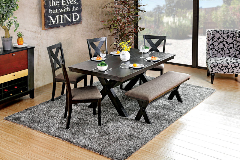 XANTHE Black 7 Pc. Dining Table Set