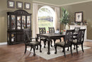 Petersburg Dark Gray 7 Pc. Dining Table Set (2AC+4SC)