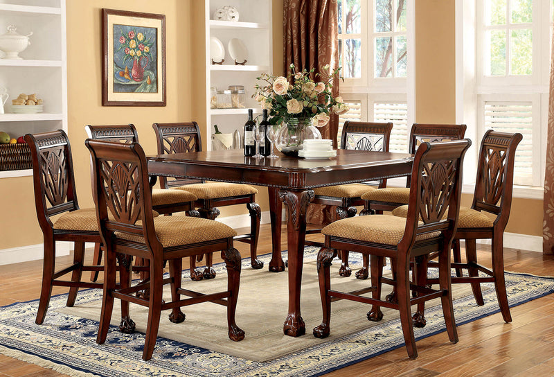 PETERSBURG II Cherry 9 Pc.Counter Ht. Dining Table Set