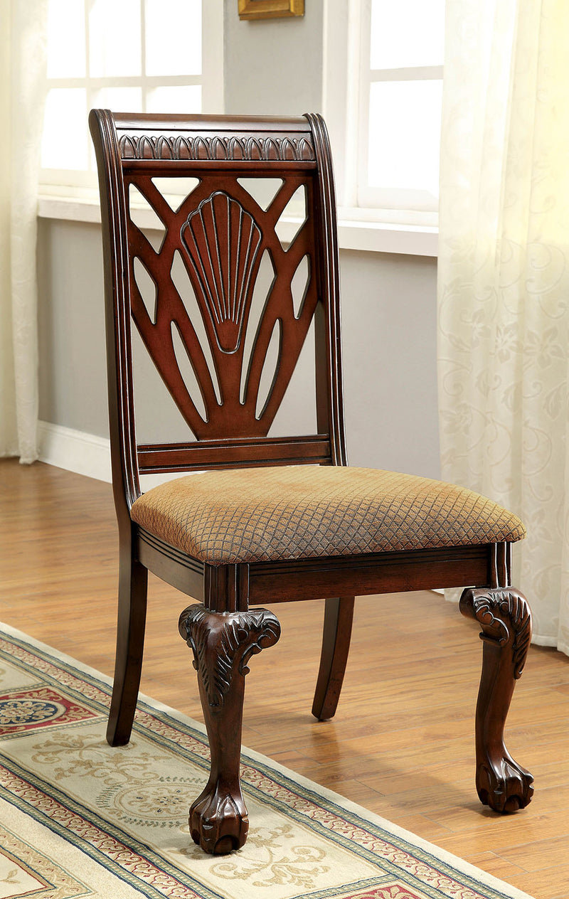 PETERSBURG I Cherry Side Chair (2/CTN)