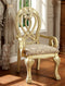 WYNDMERE Vintage White Arm Chair (2/CTN)